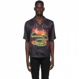SSENSE Exclusive Black Lightning Hawaiian Short Sleeve Shirt Stolen Girlfriends Club C3-19209