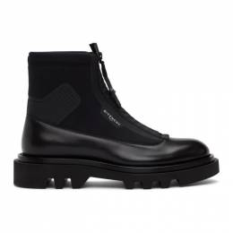 Givenchy Black Neoprene Combat Boots BH601ZH0NN
