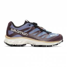 Salomon Blue and Purple XT-4 Advanced Sneakers 412630