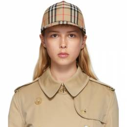 Burberry Beige Heavy Cotton Check Trucker Hat 8026929