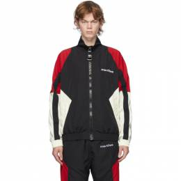 Moschino Black and Red Broken Logo Track Jacket 0619 5216