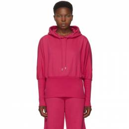 Opening Ceremony Pink Cropped Logo Hoodie YWBB003E20FLE0013535