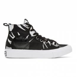 McQ Alexander McQueen Black McQ Swallow Orbyt High-Top Sneakers 621913R2692