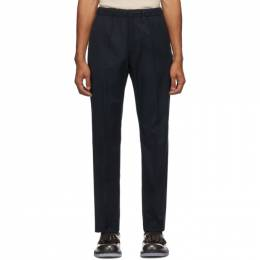 Dries Van Noten Navy Formal Drawstring Trousers 20939-1285-509