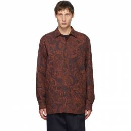 Dries Van Noten Red and Navy Quilted Shirt 20739-1508-701