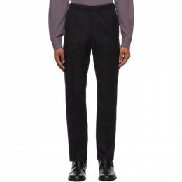 Dries Van Noten Black Formal Drawstring Trousers 20939-1285-900
