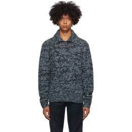 Dries Van Noten Blue Mitchie Long Sleeve Polo 21219-1704-506