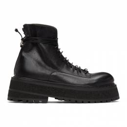 Marsell Black Carretta Combat Boots MM2980