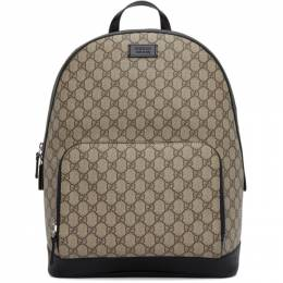 Gucci Beige and Black Small GG Eden Backpack 406370 KLQAX