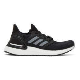 Adidas Originals Black and White Prime Blue UltraBOOST 20 Sneakers EG0714