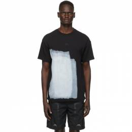 A-Cold-Wall Black Painted T-Shirt ACWMTS007