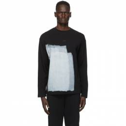 A-Cold-Wall Black Painted Long Sleeve T-Shirt ACWMTS008