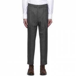 Officine Generale Grey Wool Hugo Trousers W20MTLG455PRE
