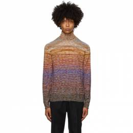 Missoni Yellow Knit Striped Turtleneck MUN00143 BK00M0
