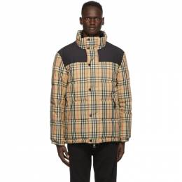 Burberry Reversible Beige Down Check Holland Jacket 8018862