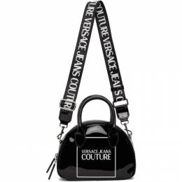 Versace Jeans Couture Black Patent Logo Handle Bag EE1VZABH4 E71580