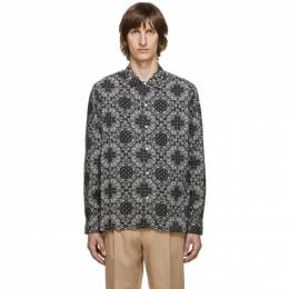 Officine Generale Black and Off-White Bandana Print Shirt W20MSHI015