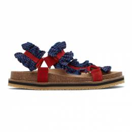 Henrik Vibskov Blue and Red Together Sandals PAW20-A901