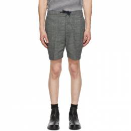Officine Generale Navy and White Phil Shorts W20MSHT802PRE