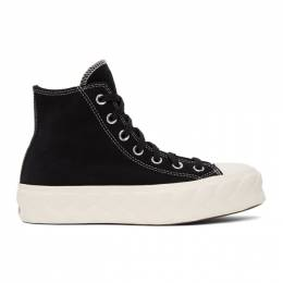 Converse Black Suede Cable Chuck Lift High Sneakers 568687C