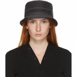 Maison Michel Black and White Topstitched Axel Bucket Hat 2290017001