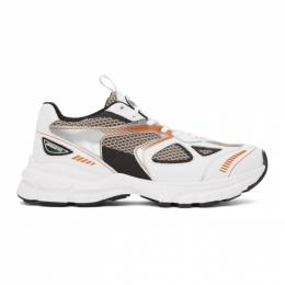 Axel Arigato White and Orange Marathon HD Sneakers 33013