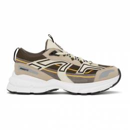 Axel Arigato Grey and Taupe Marathon R-Trail Sneakers 33052