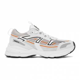 Axel Arigato SSENSE Exclusive White and Orange Marathon R-Trail Sneakers 33065