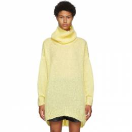 Isabel Marant Yellow Mohair and Wool Eva Turtleneck 20APU1381-20A041I