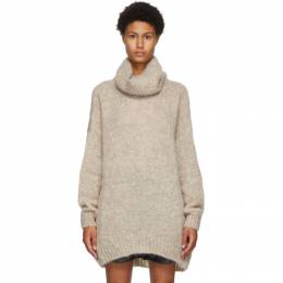 Isabel Marant Beige Mohair and Wool Eva Turtleneck 20APU1381-20A041I