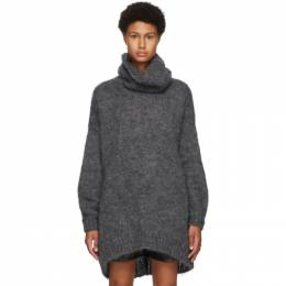 Isabel Marant Grey Mohair and Wool Eva Turtleneck 20APU1381-20A041I