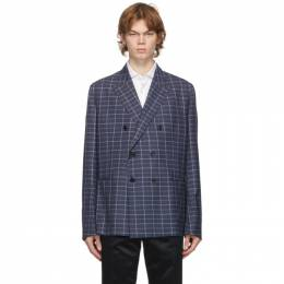 Paul Smith Navy Check Wool Soho Blazer M1R-1949-E01137