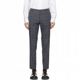 Paul Smith Grey and Navy Wool Slim Trousers M1R-150M-E01162