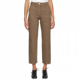 Lemaire SSENSE Exclusive Brown Twisted Jeans W 204 PA220 LD034