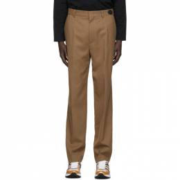 We11Done Tan Slim-Fit Trousers WD-PT8-20-003-M-CM