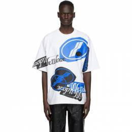 We11Done White Stacked Logo T-Shirt WD-TT8-20-113-U-WH