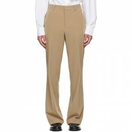 Wooyoungmi Beige Twill Trousers PT01
