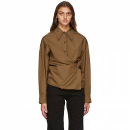 Lemaire Brown Twisted Shirt W 203 SH254 LF353