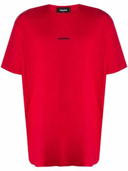 Dsquared2 cotton red t-shirt with logo print S74GD0710S21600