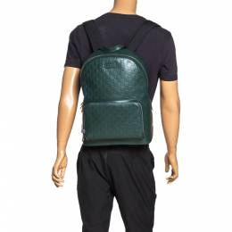 Gucci Green Guccissima Leather Backpack 315867