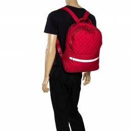 Chanel Red Quilted Nylon Coco Cocoon Backpack 318180