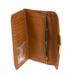 Marc by Marc Jacobs Tan Soft Leather Flap Trifold Continental Wallet 315933