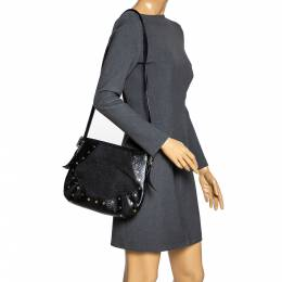 Dkny Black Canvas and Leather Crossbody Bag 318094