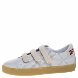 Burberry White Leather Becky Perf Sneakers Size 40 317859