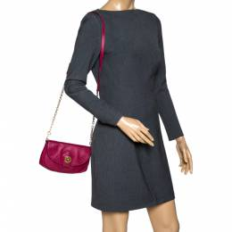 Marc by Marc Jacobs Magenta Leather Crossbody Bag 317216