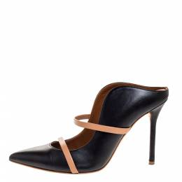 Malone Souliers Black Leather Maureen Mules Size 37.5 316370
