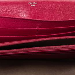 Cartier Pink Leather Love Continental Wallet 314430