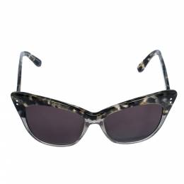 Erdem x Linda Farrow Marble & Grey Glitter / Brown 22 C3 Cat Eye Sunglasses 312557