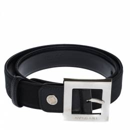 Bvlgari Black Mania Fabric Square Buckle Belt 105CM 306942