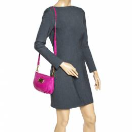 Marc by Marc Jacobs Magenta Leather Classic Q Percy Crossbody Bag 306975